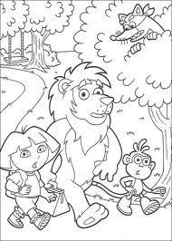 Coloriage Dora l exploratrice sur Hugolescargot  - Coloriage Dora Et Babouche