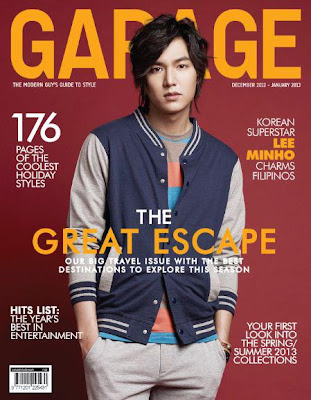 : Lee Min Ho Covers Garage Magazine December 2012/January 2013 Issue