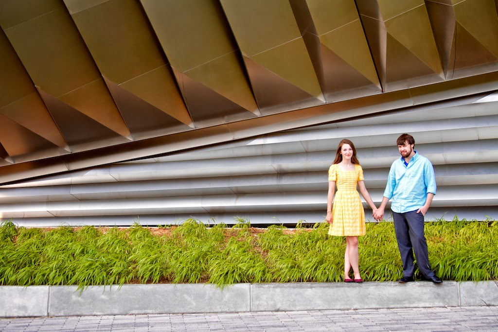 Broad Art Museum. MSU Engagement Session, East Lansing. Photos by Tammy Sue Allen Photography.