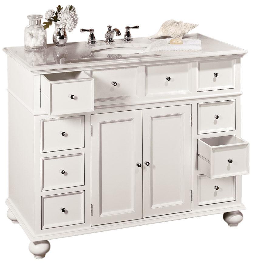 Hampton Bay 28w Single Sink Cabinet With White Granite Top