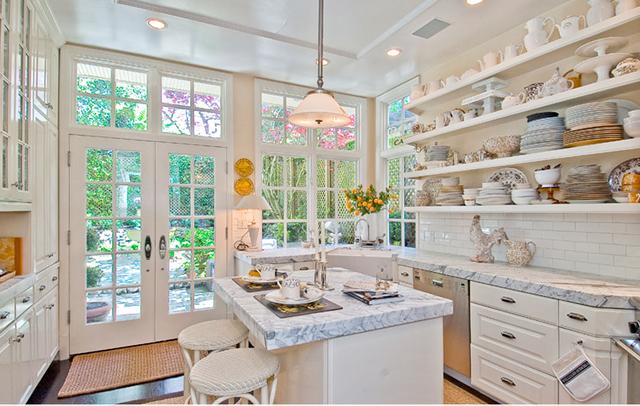 decoração de cozinha branca