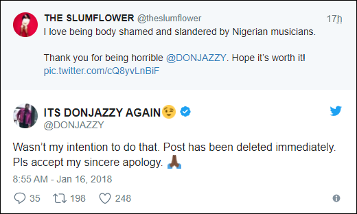 'Wasn't My Intention' – Don Jazzy Apologizes To Lady With 'Flat B00bbies' 3