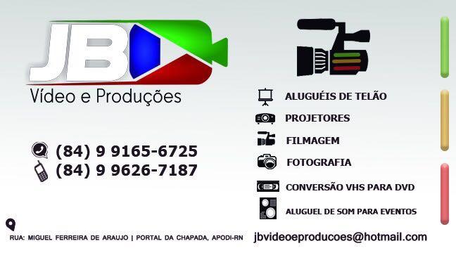 JB VÍDEOS E PRODUÇÕES!