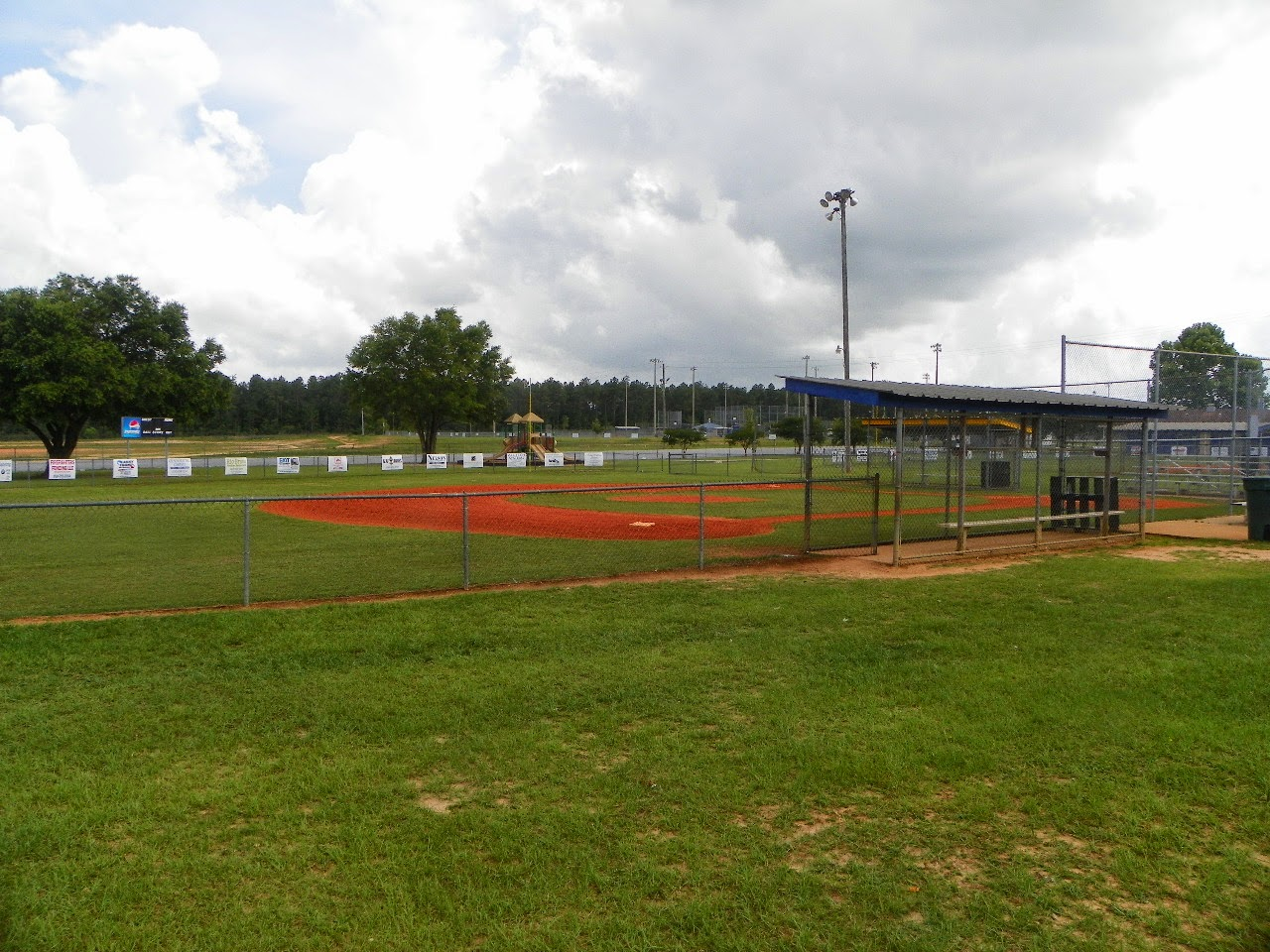Baseball and football fields at Athletic Complex