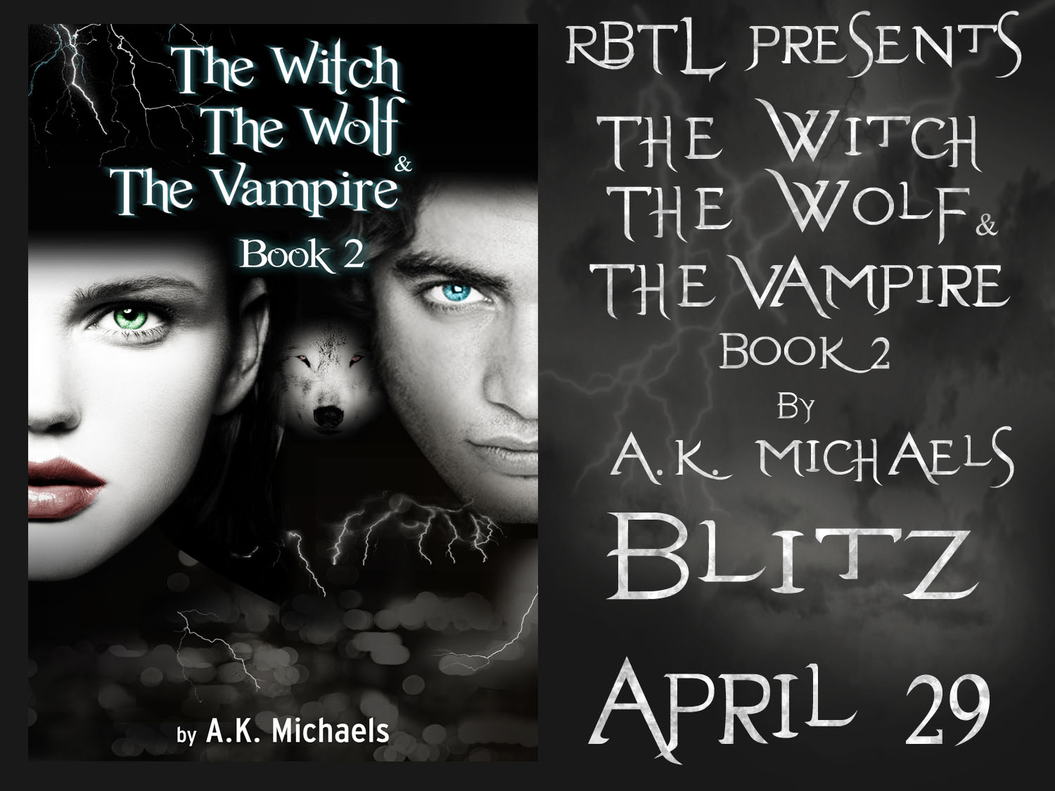 Book Blitz For The Witch, The Wolf, And The Vampire By Ak Michaels