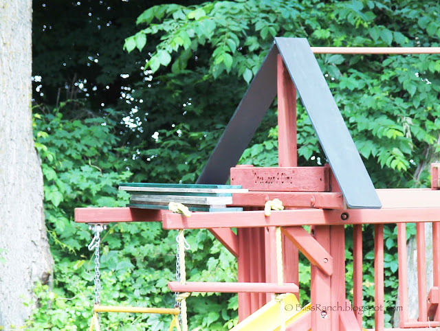 For half the price of a canopy top we have a roof that the wind wonu0027t be able to blow off. & Bliss Ranch: Replace Playground Canopy with a Wood Roof