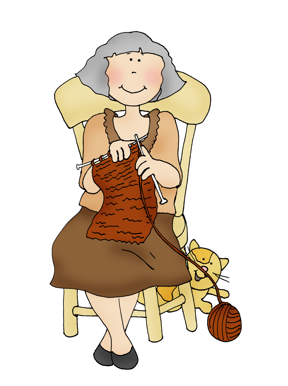 Knitting Granny Clipart : Free dearie dolls digi stamps knitting