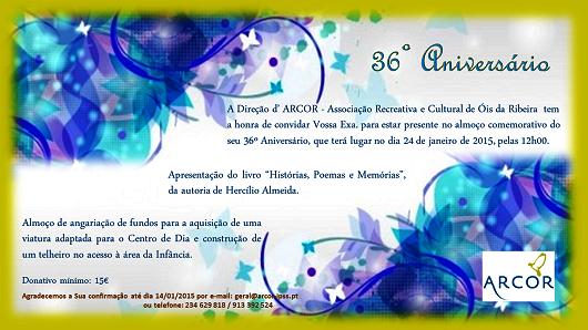 Arcor vai festejar 36 anos!
