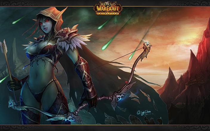 World of warcraft geekette fan art lady sylvanas windrunner - Sylvanas windrunner wallpaper ...