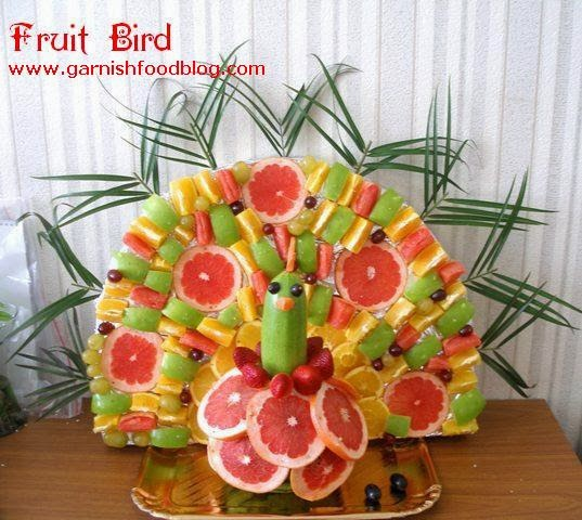bird made of fruit