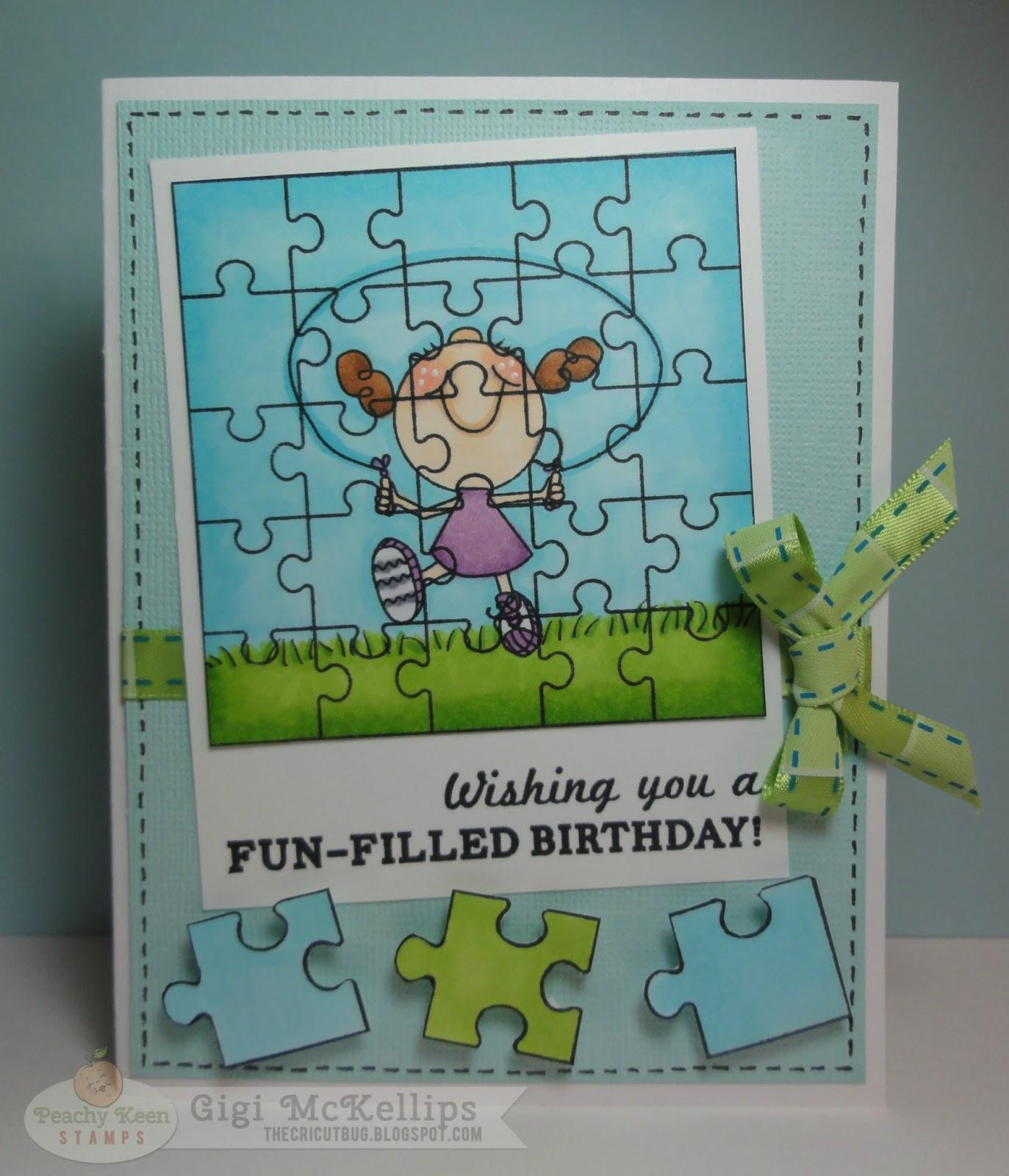 The Cricut Bug: Puzzle Birthday Card