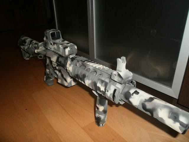 "M4 SD  D-Boys ""Pintura: EME - Custom, CAMO MULTILAND"" P1015954"