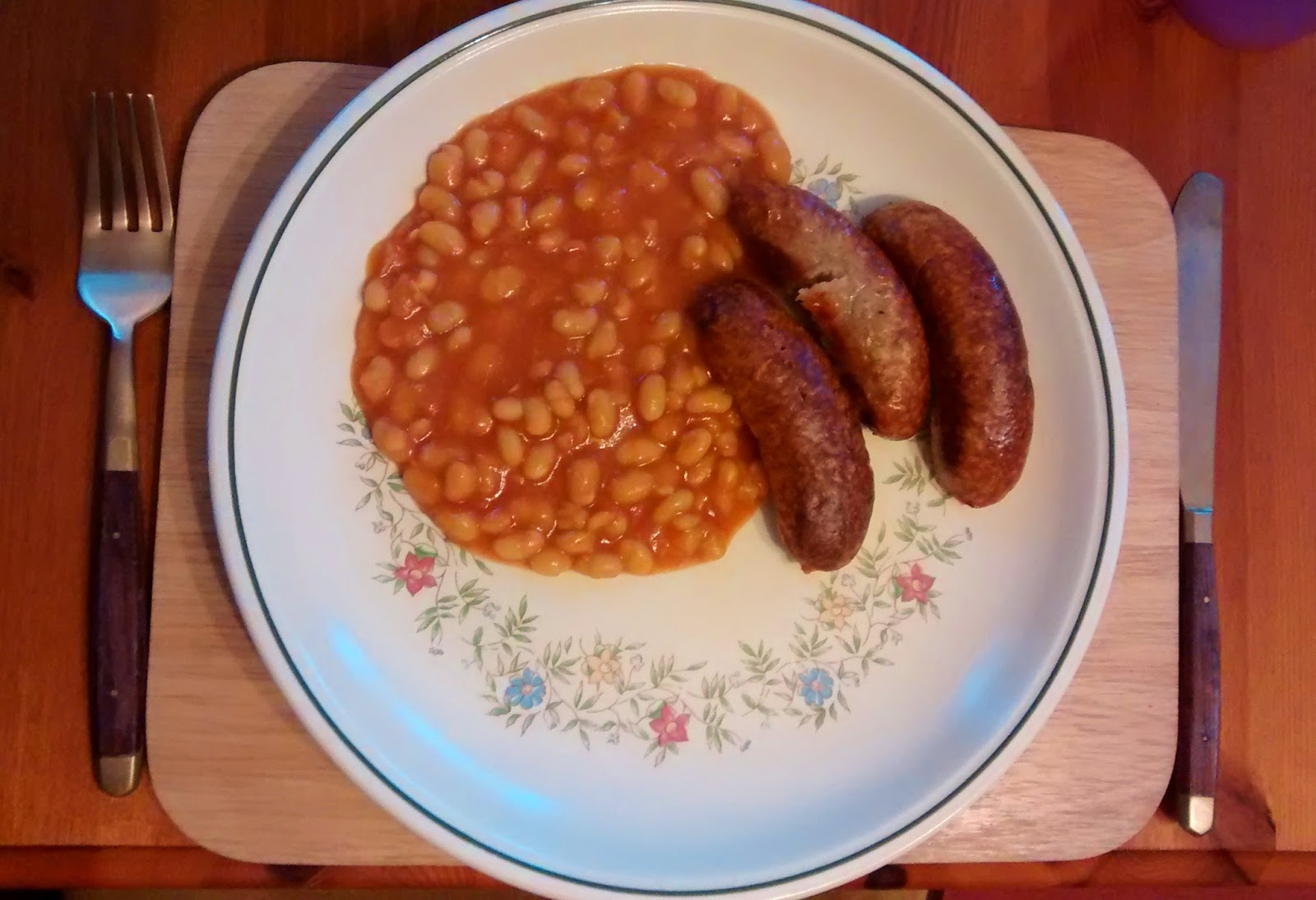 sausages and baked beans dinner meals