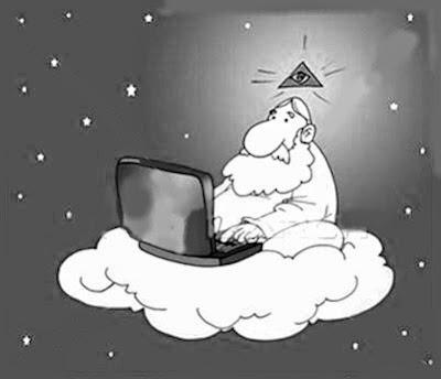 Dios en su laptop