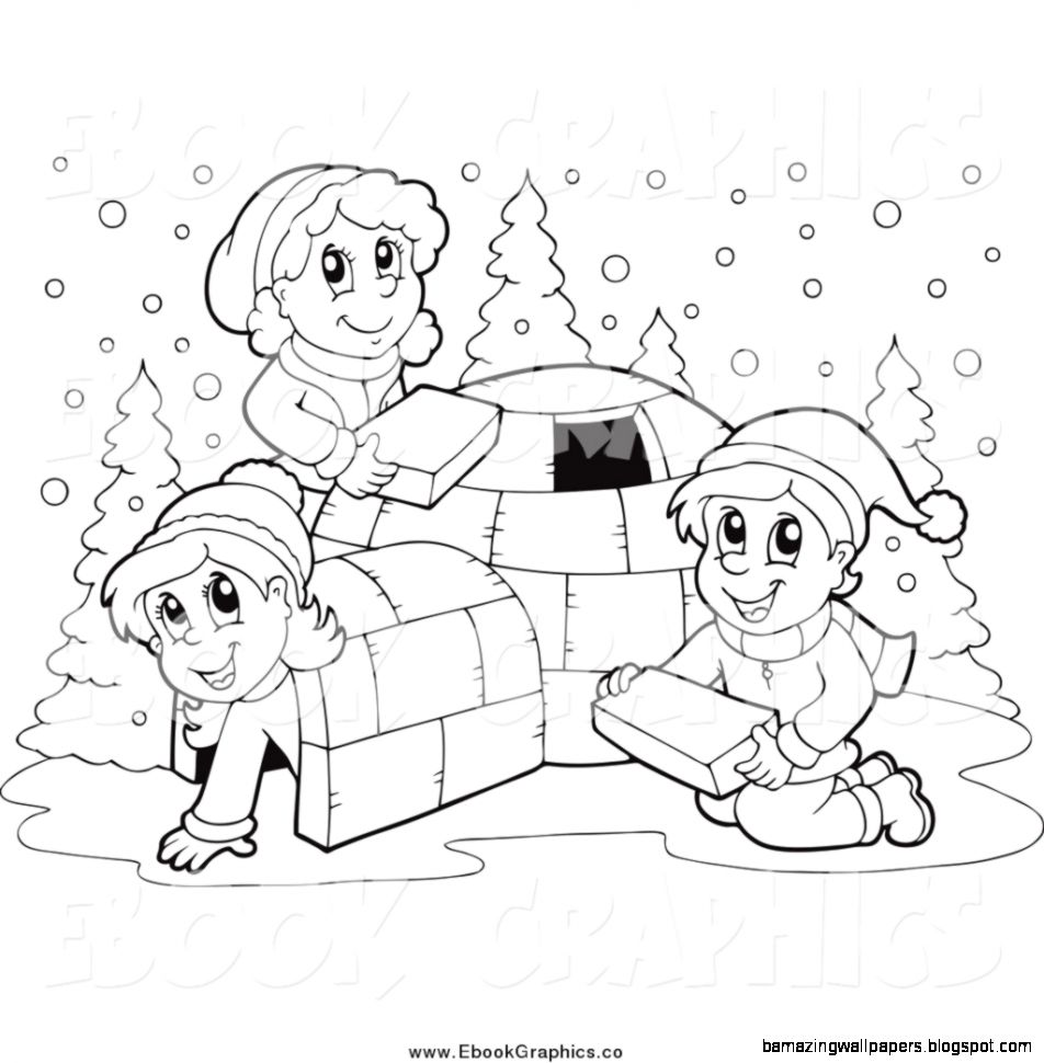 Winter Black And White Clipart   Clipart Kid