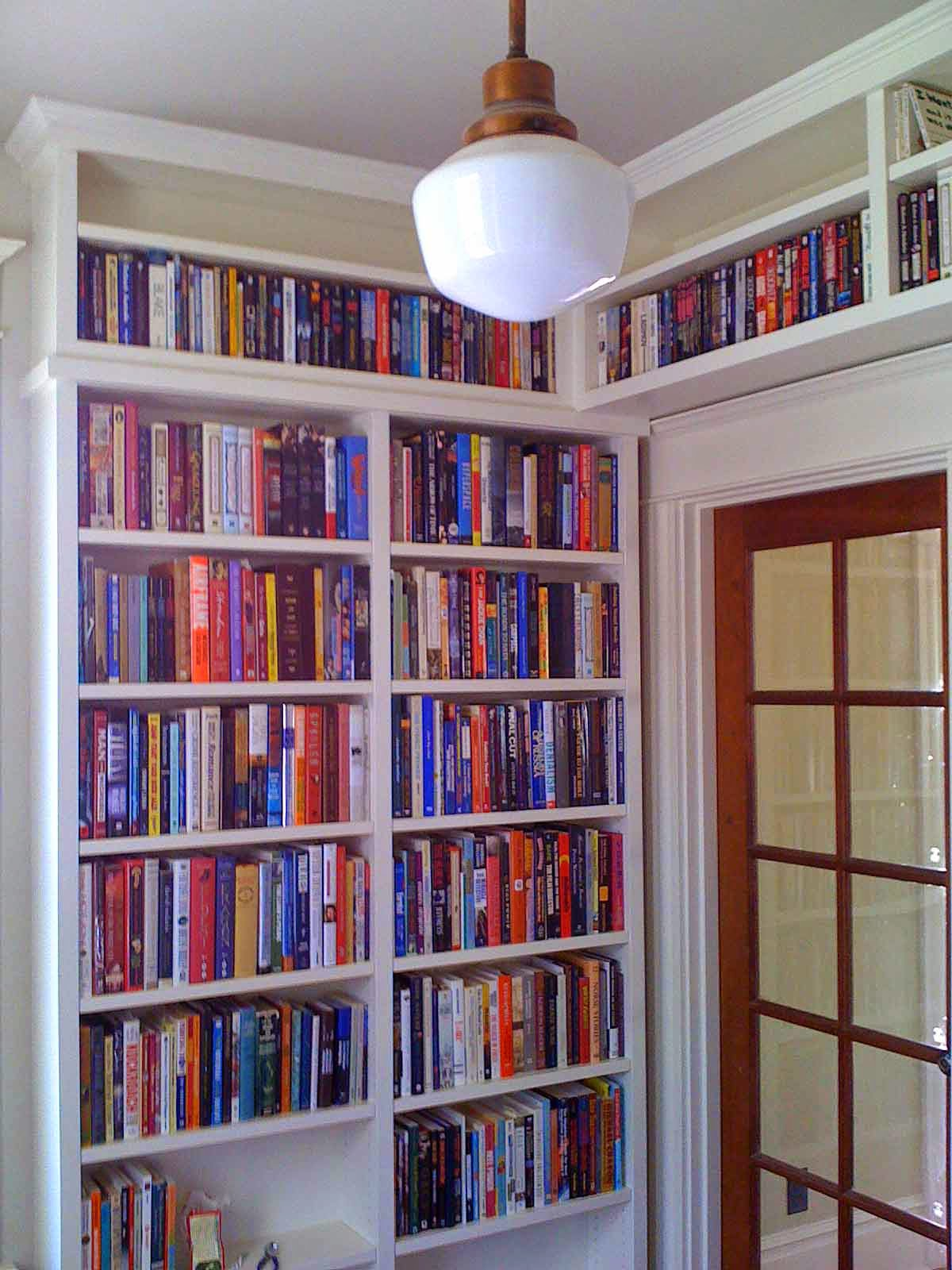 344 Built in bookcase for a century-old house