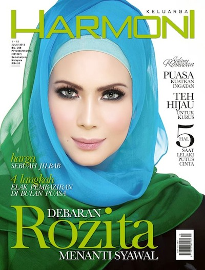 majalah harmoni cover Rozita Che Wan
