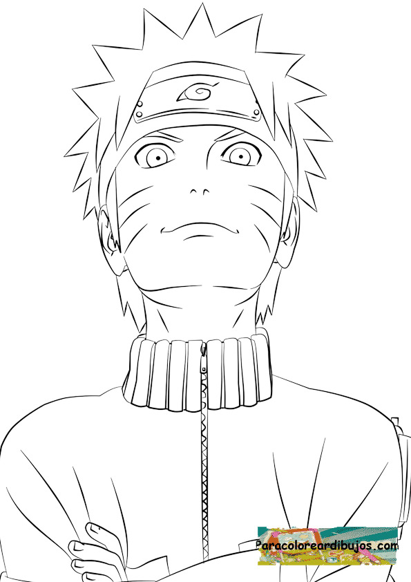 Naruto shippuden para colorear