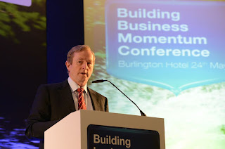 Taoiseach Enda Kenny speaks at a business conference in Dublin last week.