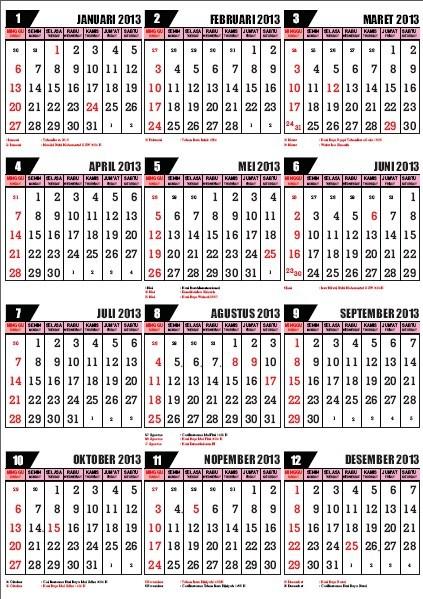 Kalender Islam 1434-1435 Hijriyah Format PDF (.pdf)