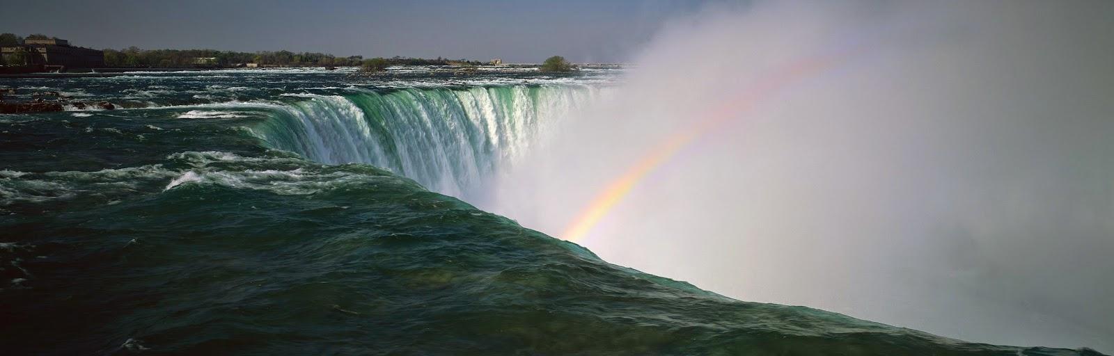 Waterfall rainbow free hd desktop wallpaper