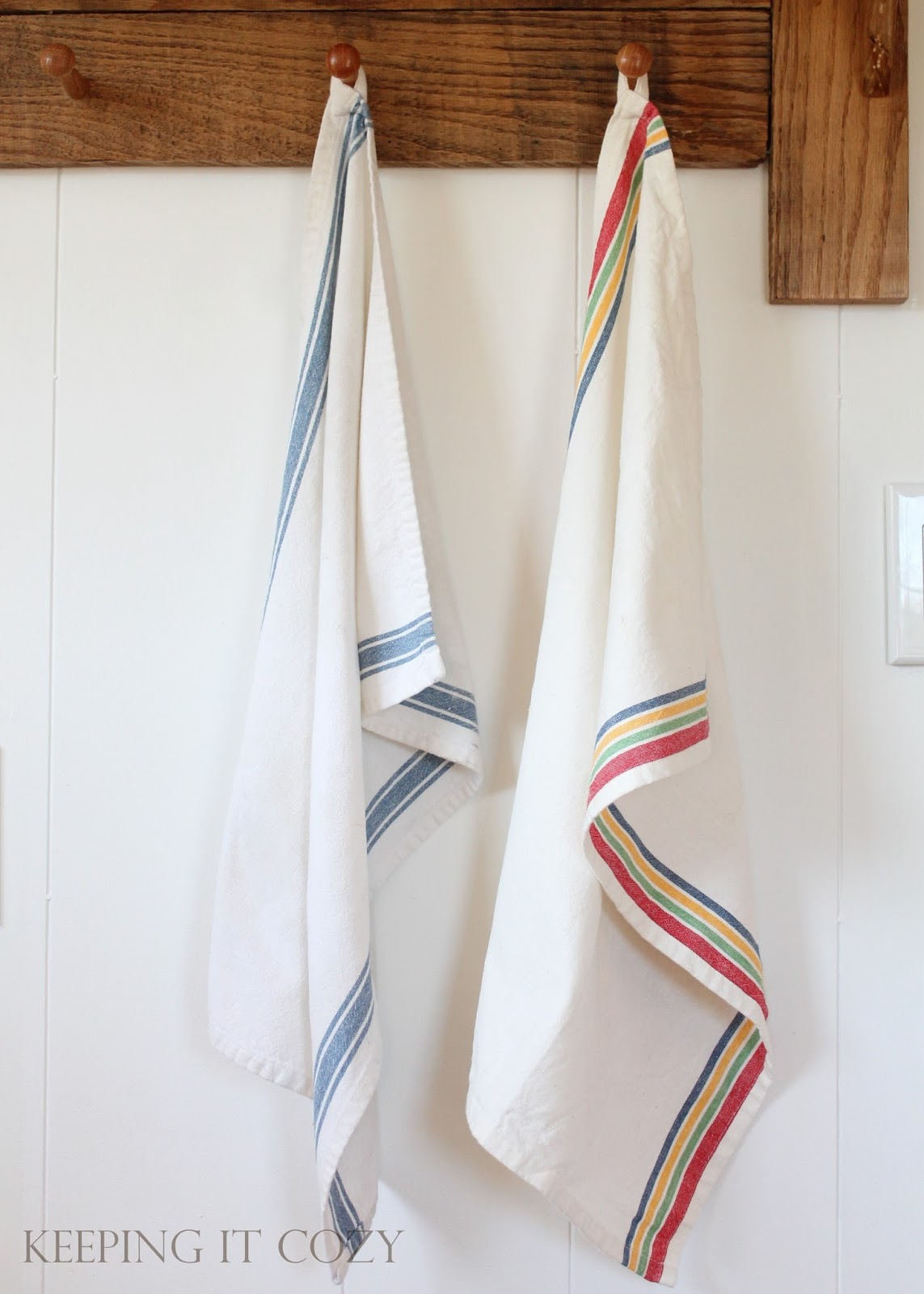 Kitchen Towel Hanging Keeping It Cozy My Favorite Dish Towels