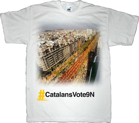 catalonia Barcelona freedom referendum independence 11 septembre 11S 9n t-shirt ephemeral-t-shirts