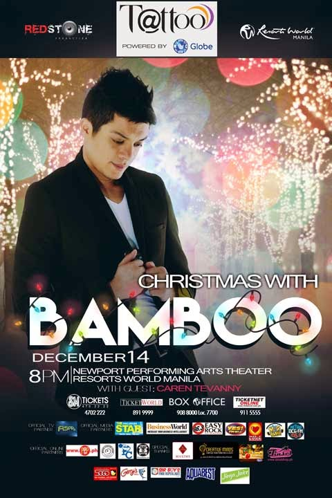 Bamboo, Bamboo Concert, Concert, Concert Schedule, December, December 14 2014, Globe, OPM  Concert, OPM Songs, Philippines, Redstone Media Productions Inc., Resorts World Manila,