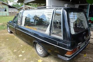 W123 hearse in Daanbantayan, Cebu, Philippines