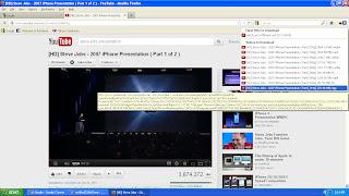mainkan video yang ingin kamu download, lalu klik icon fv di pojok kanan atas.
