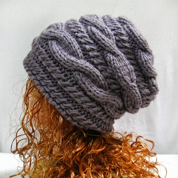 Knitting pattern hat slouchy