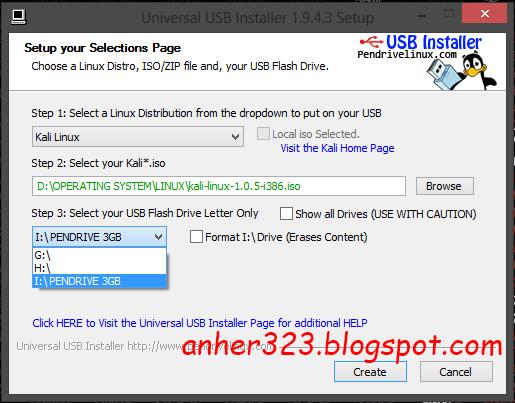 Pilih USB Flashdisk