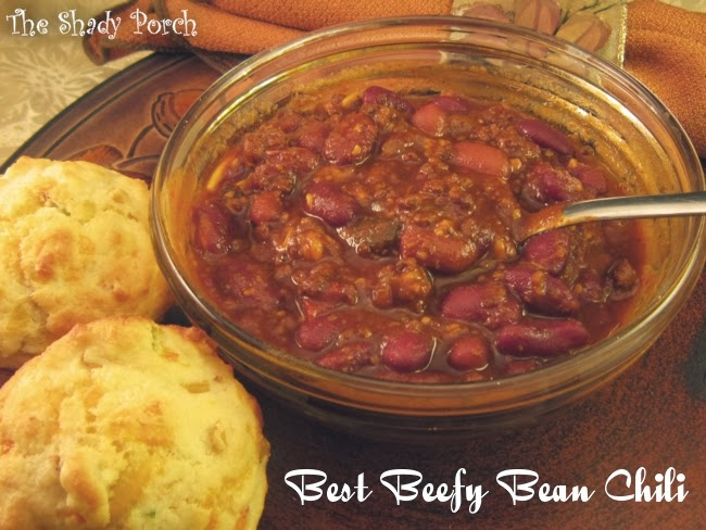 Best Beefy Bean Chili...comforting deliciousness