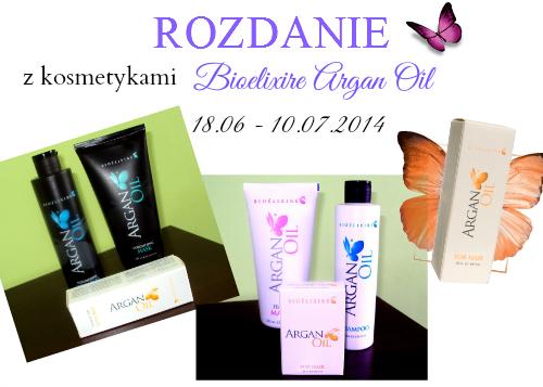 Rozdanie z kosmetykami Bioelixire Argan Oil.