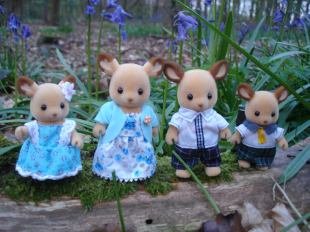 Sylvanian Families Buckley Red Deer Family in the Bluebell Woods
