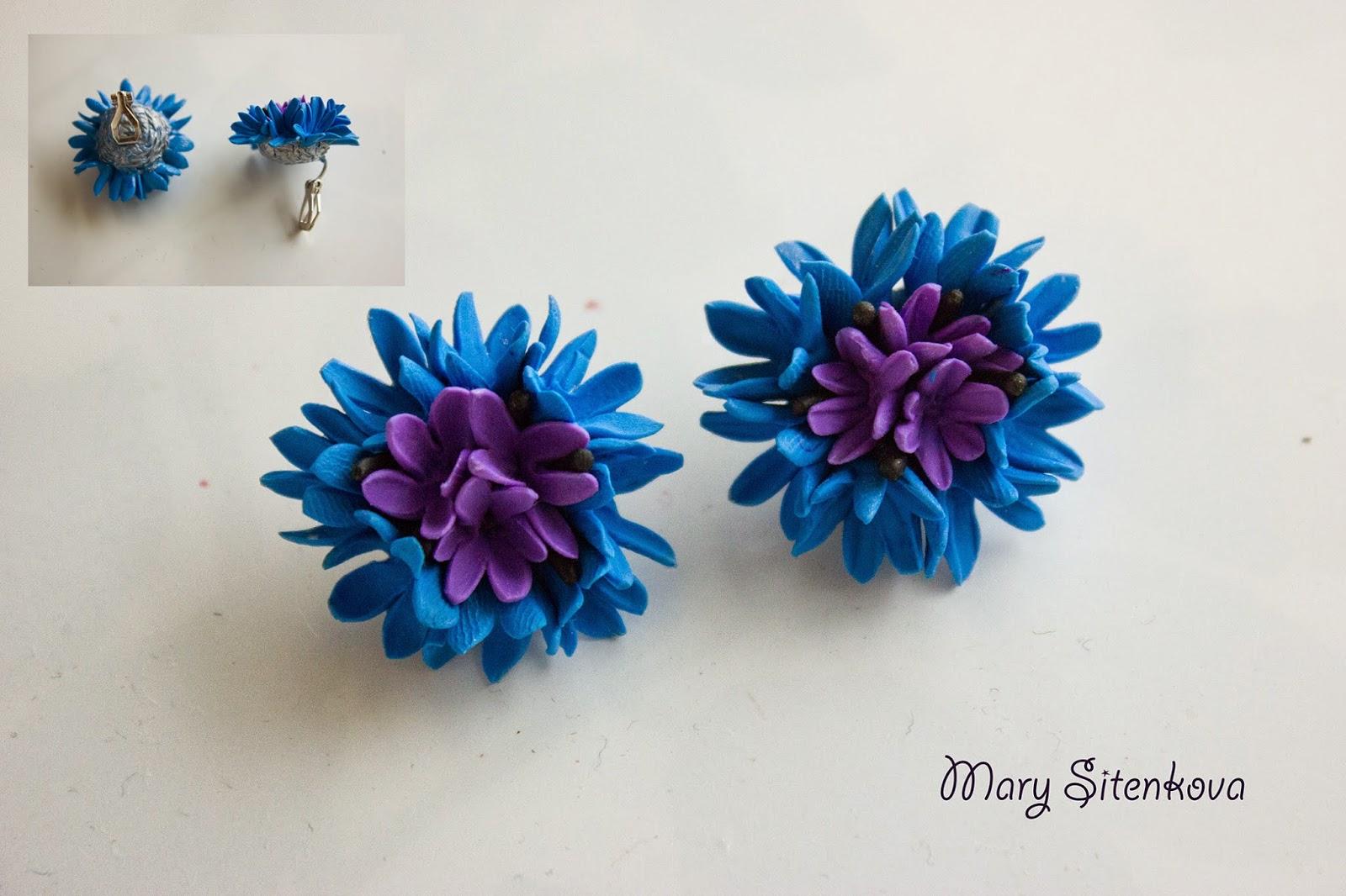 цветы из запекаемой полимерной глины
