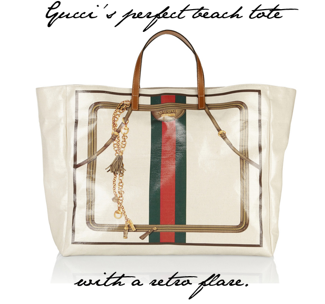 Summer Essentials: The perfect beach tote from Gucci