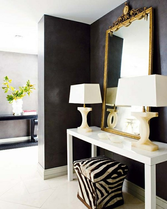 Interiors in Black and White ~ design interior house