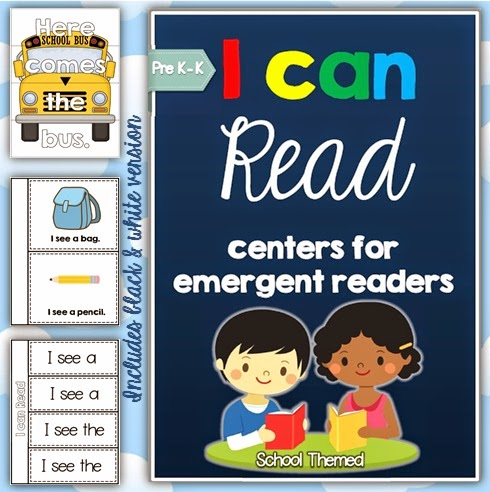 I Can Read: literacy centers for emergent readers BUNDLE