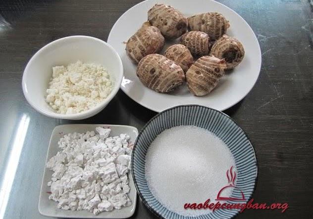 Cách nấu chè khoai sọ thơm ngon bùi bùi 1