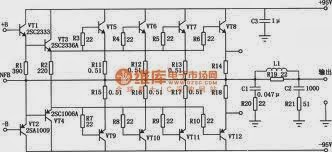 Audio Power Amplifier With Transistor