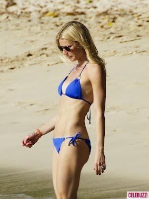 gwyneth paltrow luce su cuerpo en bikini en la playa