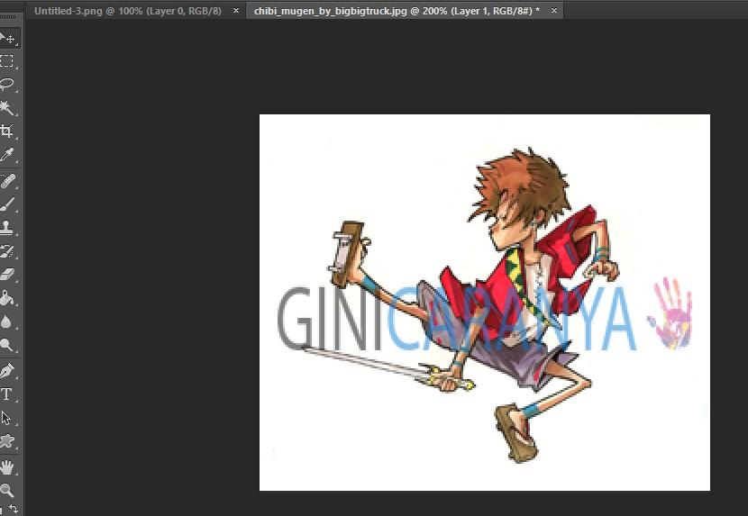 Tutorial Merubah Warna Background Dengan Photoshop ~ Gini