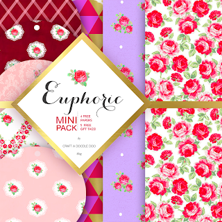 Craft A Doodle Doo-Euphoric Vintage Free Digi Pack #free #printables #floral #vintage