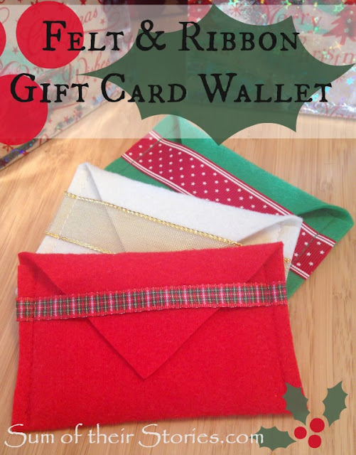 Felt envelopes fro gift card giving