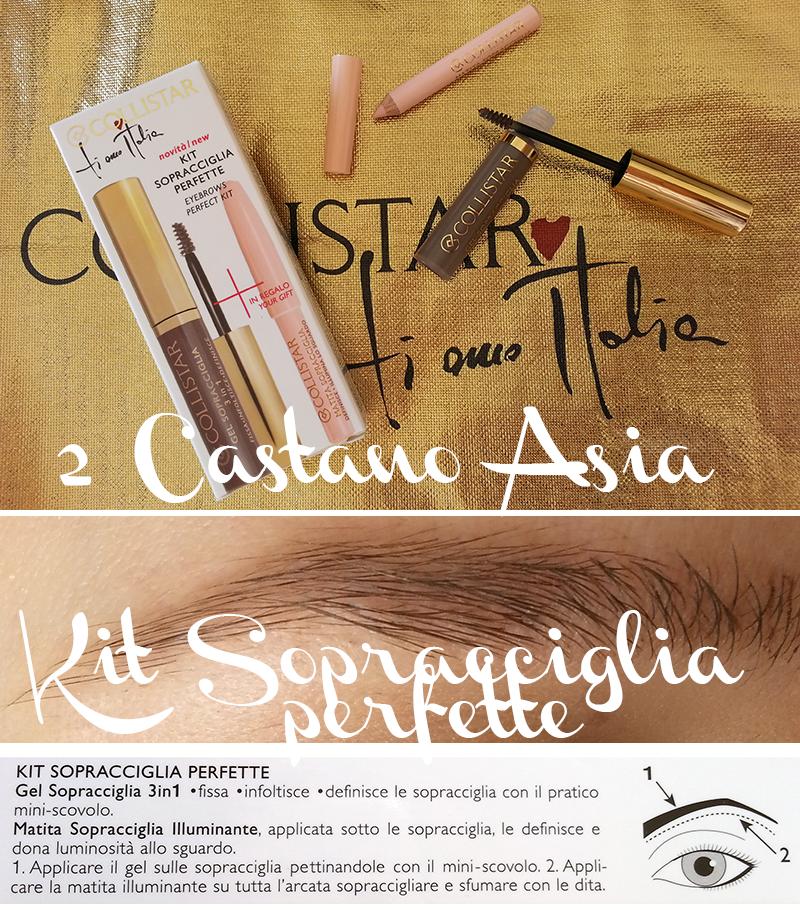 Collistar collezione bellezza italiana, Kit Sopracciglia Perfette castano