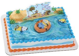 despicable me 2 beach minion birthday cake topper