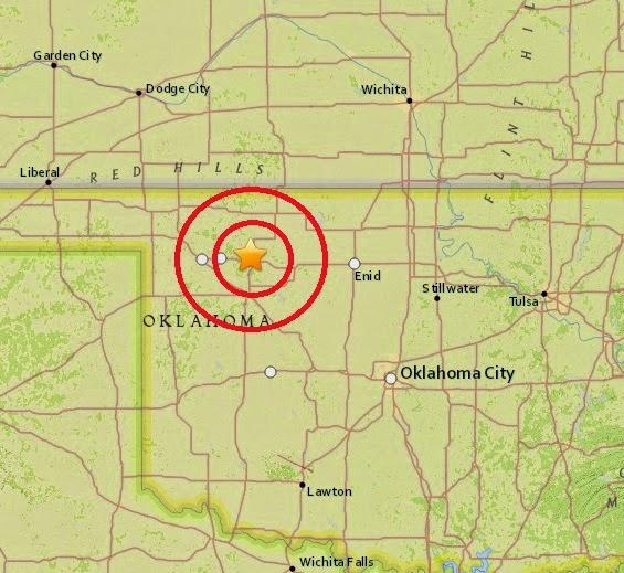 Magnitude 3.0 Earthquake of Mooreland, Oklahoma 2015-04-04