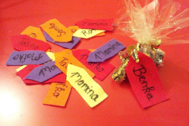 diy felt name tags