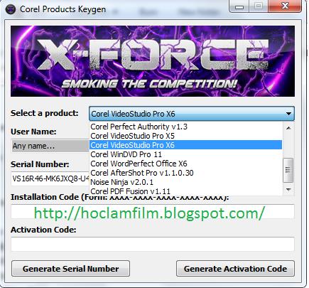 serial number corel videostudio pro x9 ฟรี